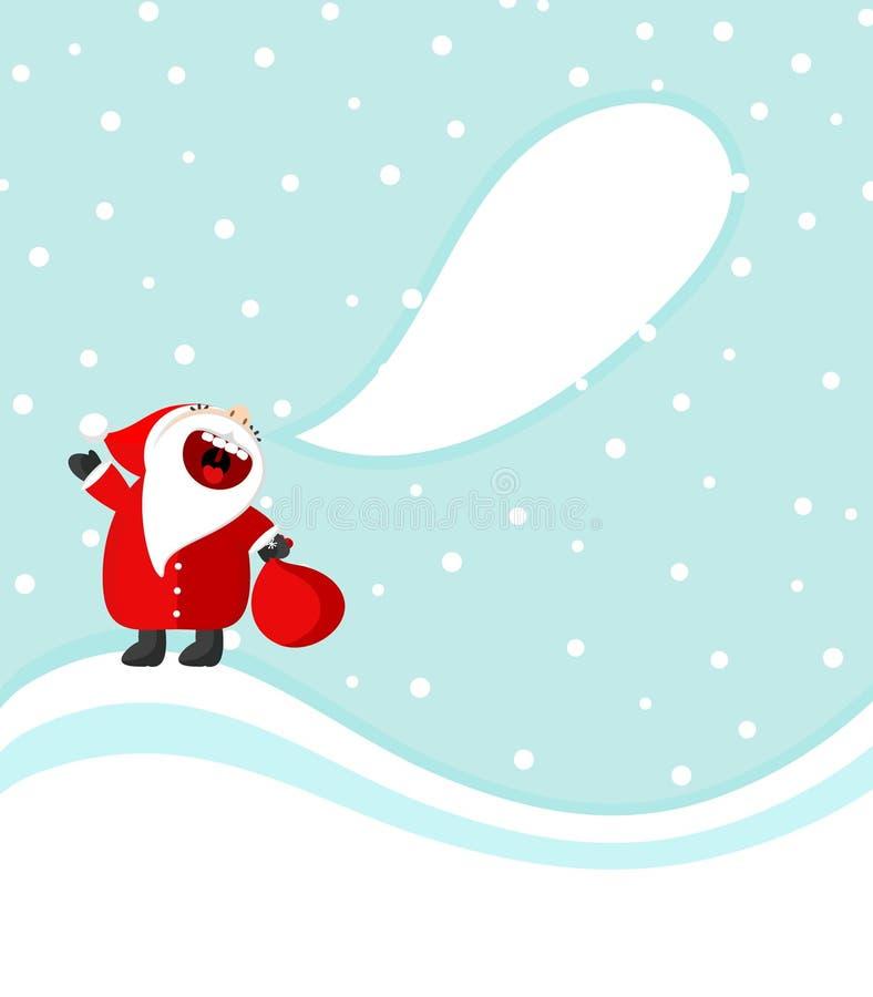 Weihnachtsmann: Frohe Weihnachten!!! lizenzfreie abbildung