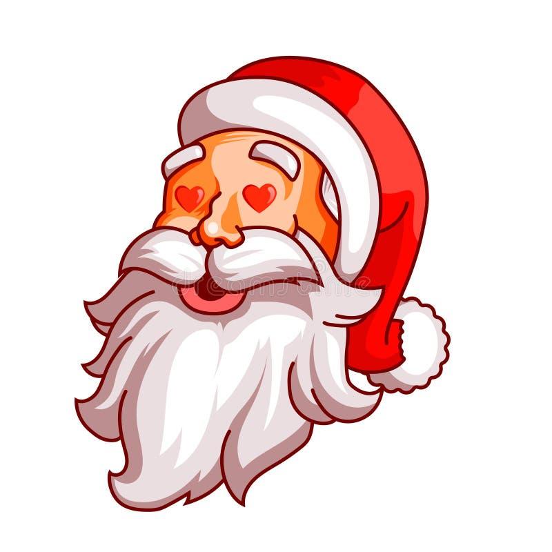 Weihnachtsmann-Gefühle Teil des Weihnachtssatzes Liebe, Leidenschaft, Amorousness Bereiten Sie für Druck vor vektor abbildung