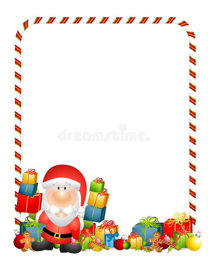 Weihnachtsmann-Geschenk-Rand stock abbildung