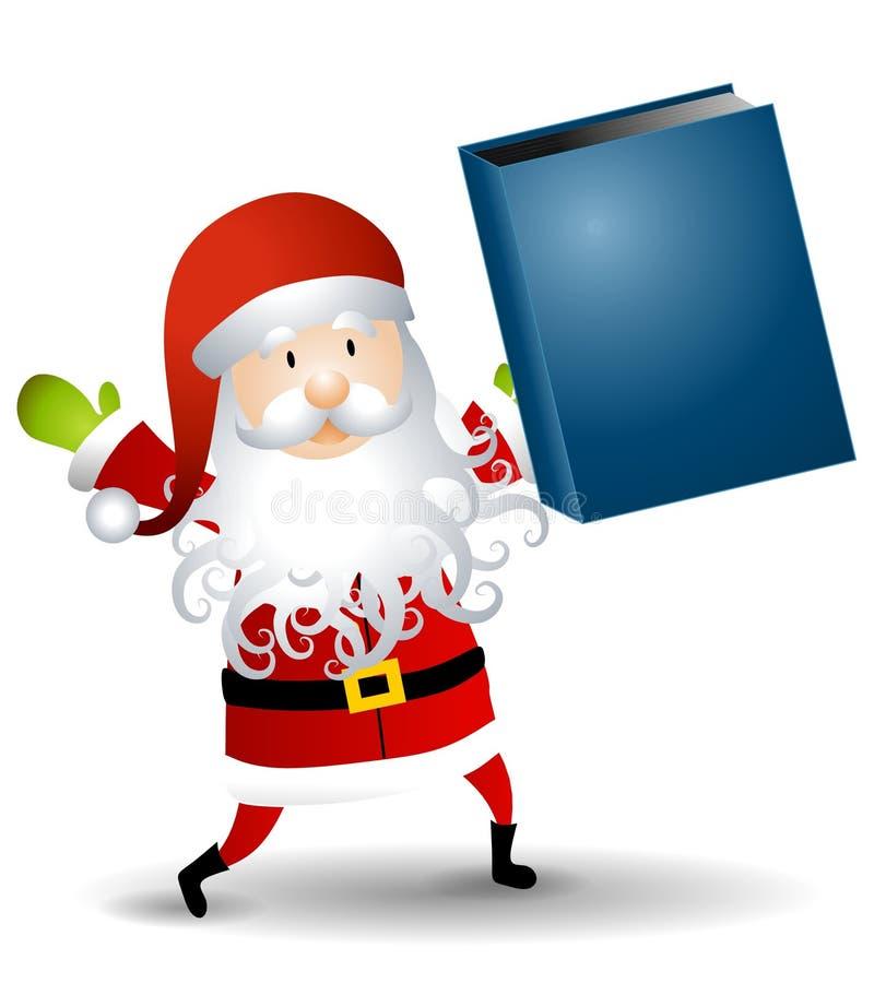 Weihnachtsmann-Holding-Buch lizenzfreie abbildung