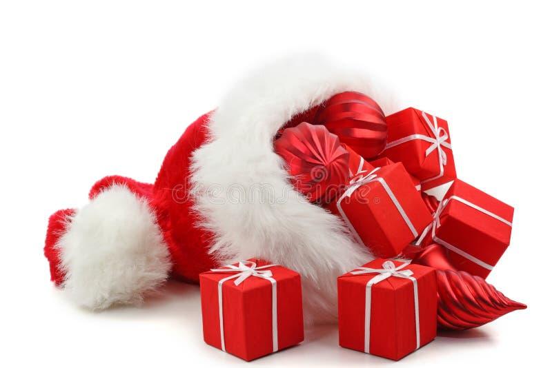 Weihnachtsmann-Hut stockfotografie