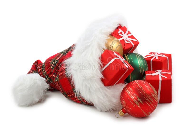 Weihnachtsmann-Hut lizenzfreies stockfoto