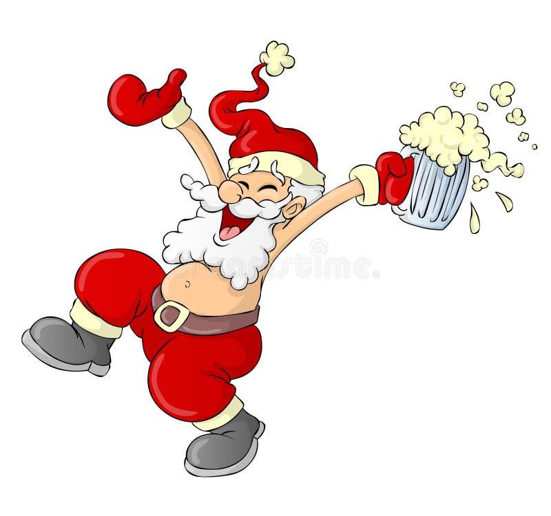 Weihnachtsmann-Karikatur vektor abbildung