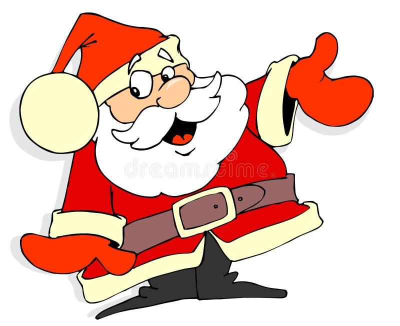 Weihnachtsmann-Karikatur stock abbildung