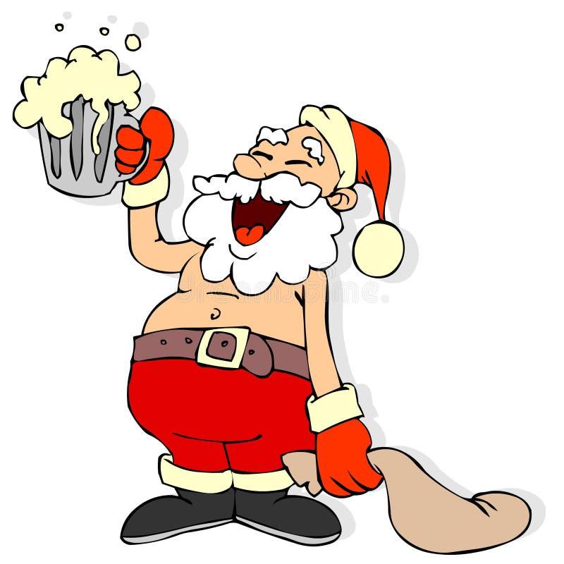 Weihnachtsmann-Karikatur lizenzfreie stockfotos
