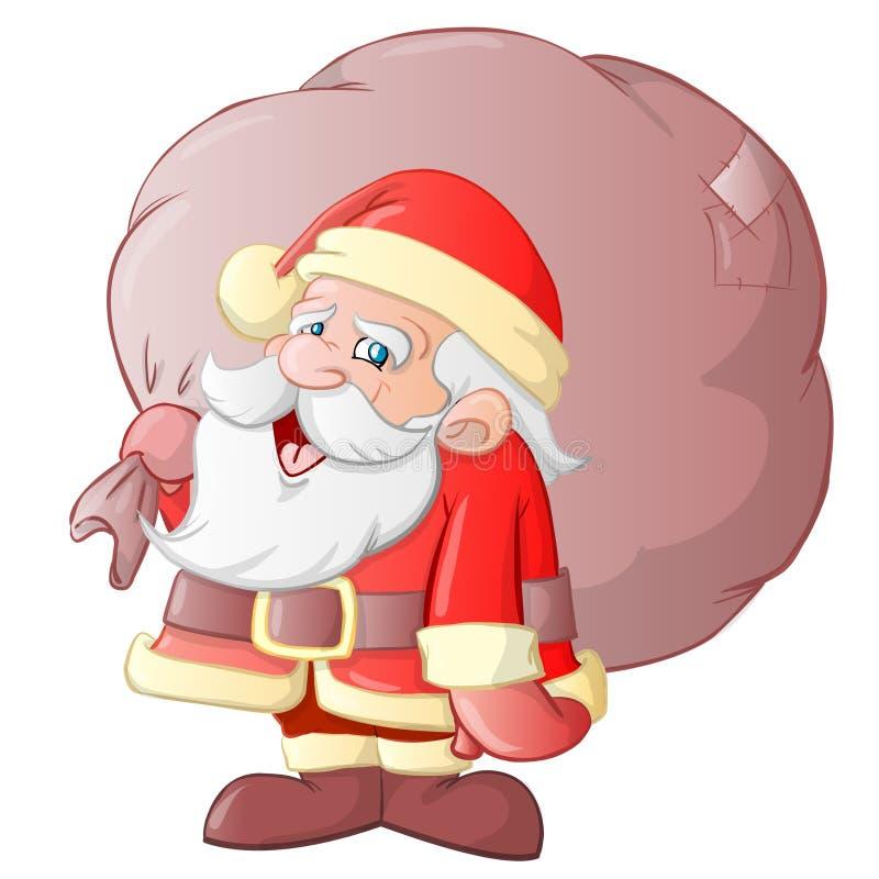 weihnachtsmann karikatur stock abbildung illustration von komisch 7358923