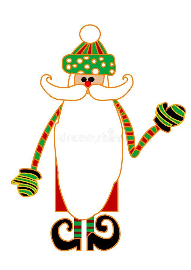 Weihnachtsmann-Karte stock abbildung