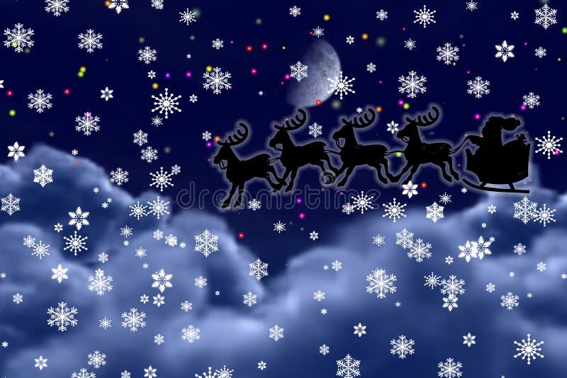 Weihnachtsmann kommt. vektor abbildung
