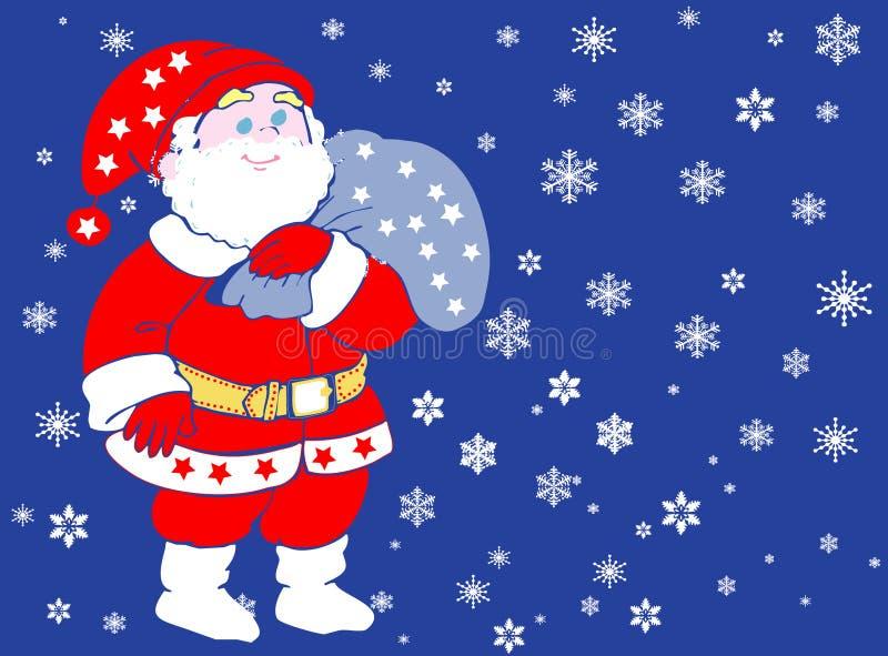 Weihnachtsmann kommt. lizenzfreie abbildung