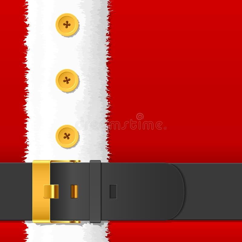 Weihnachtsmann-Kostüm mit Gurt vektor abbildung