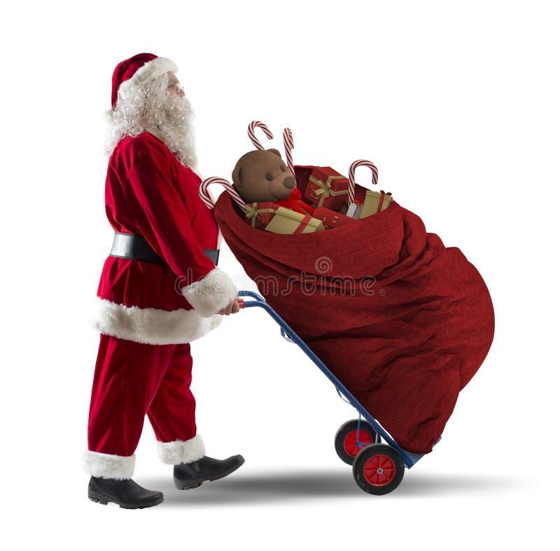 Weihnachtsmann-Kurier lizenzfreie stockfotografie