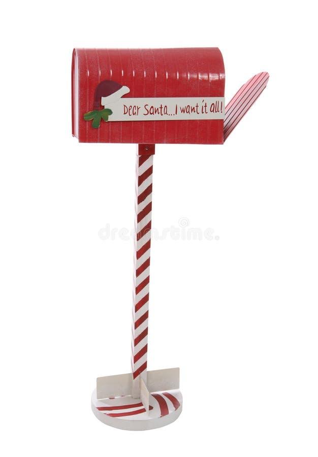 Weihnachtsmann-Mailbox lizenzfreie stockfotos