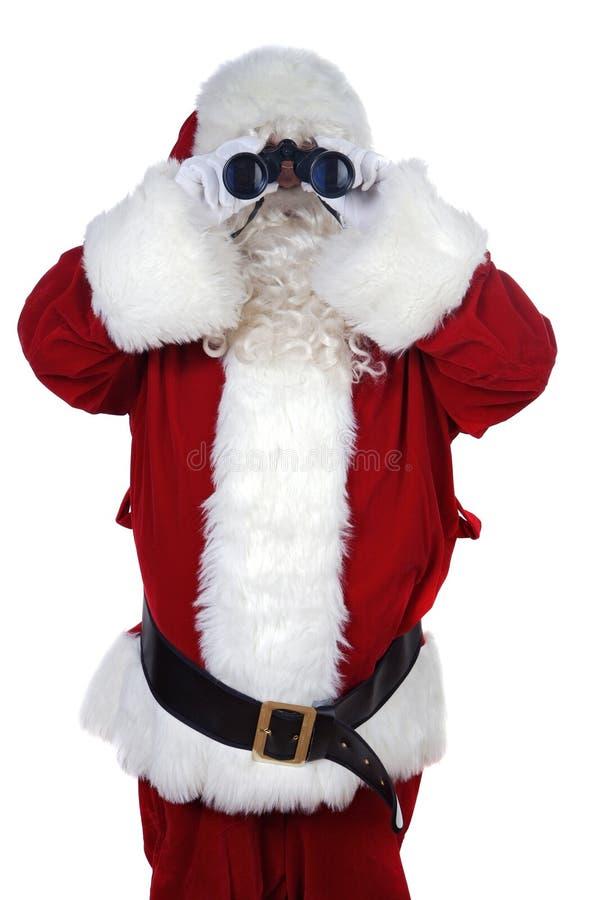 Weihnachtsmann mit Binokeln lizenzfreies stockbild