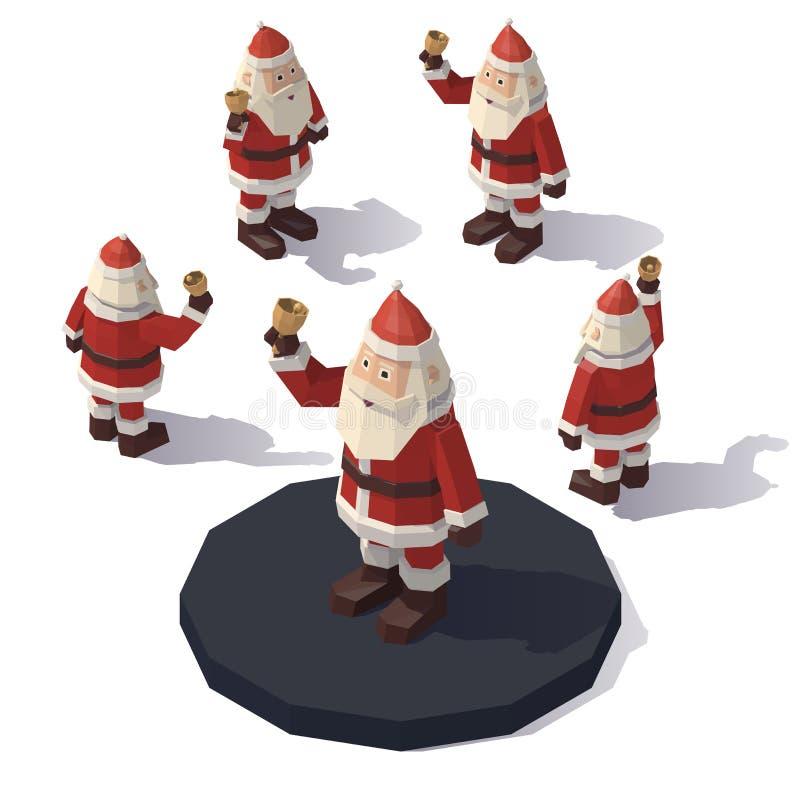 Weihnachtsmann mit einer Glocke vektor abbildung