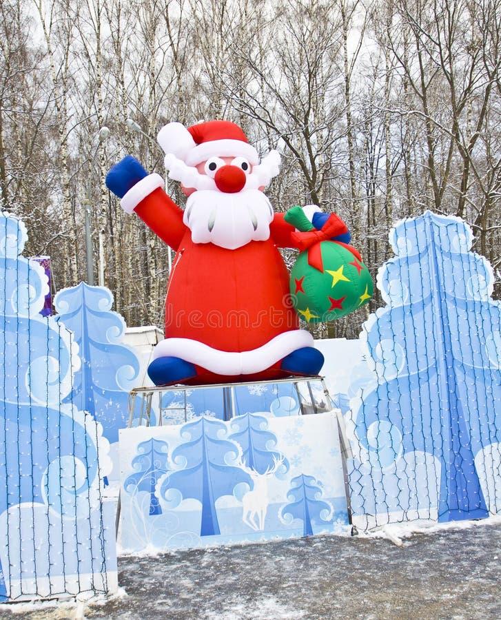 Weihnachtsmann, Moskau lizenzfreie stockbilder