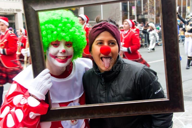 Weihnachtsmann-Parade, Toronto, Kanada stockbilder