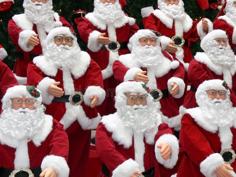 Weihnachtsmann-Puppen lizenzfreie stockfotografie