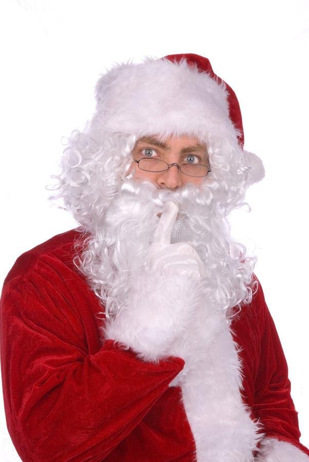 Weihnachtsmann sagt ...... stockbild