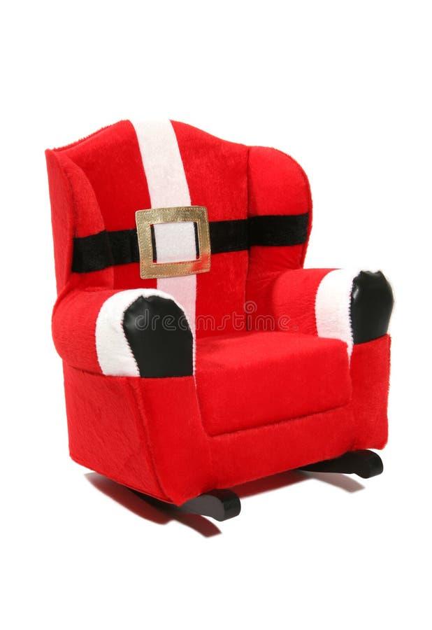 Weihnachtsmann-Stuhl stockfoto