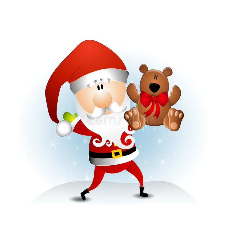 Weihnachtsmann-Teddybär stock abbildung