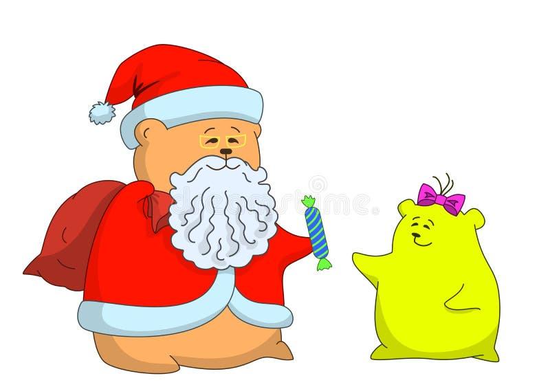 Weihnachtsmann und Mädchen   vektor abbildung