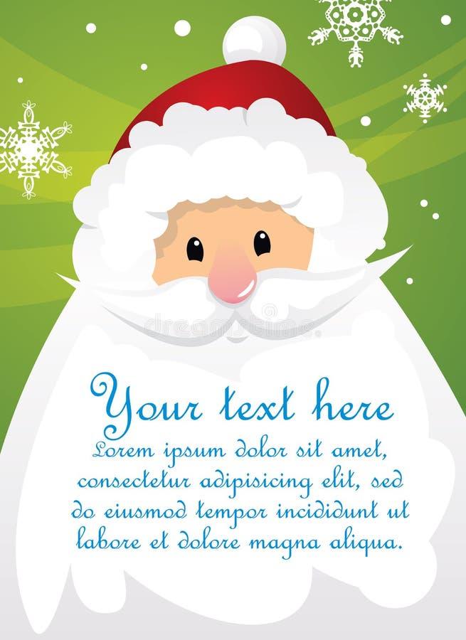 Weihnachtsmann und Zeichen lizenzfreie abbildung