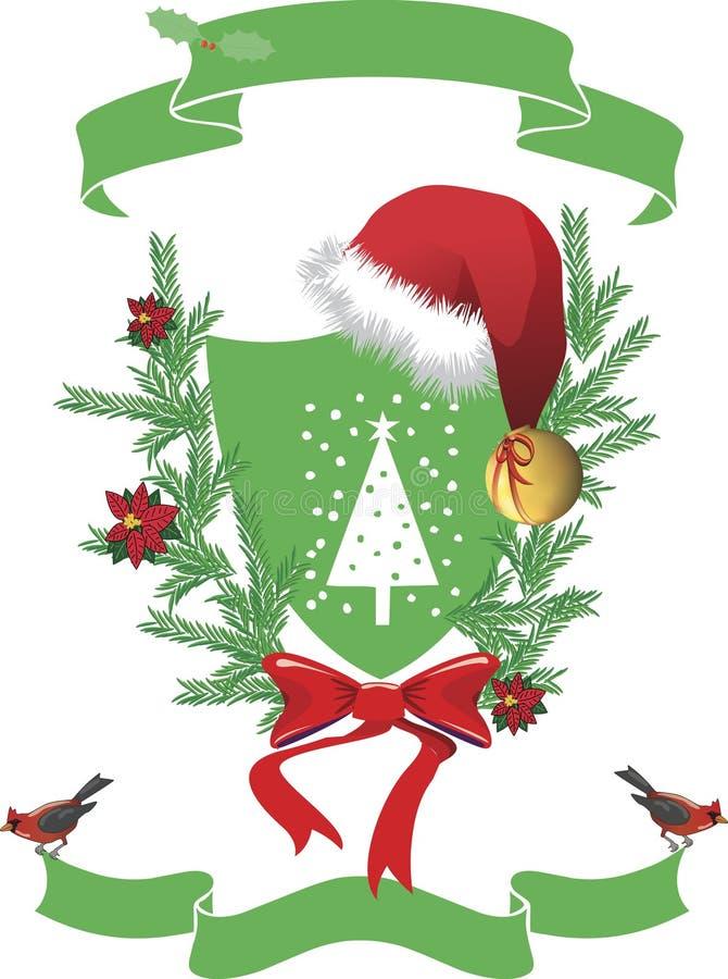 Weihnachtsmann-Wappen. lizenzfreie abbildung