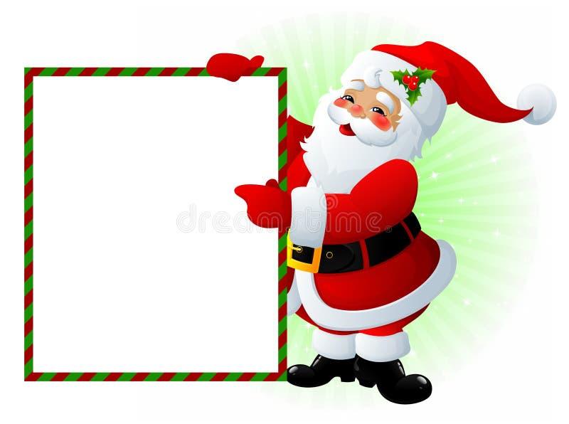 Weihnachtsmann-Zeichen stock abbildung