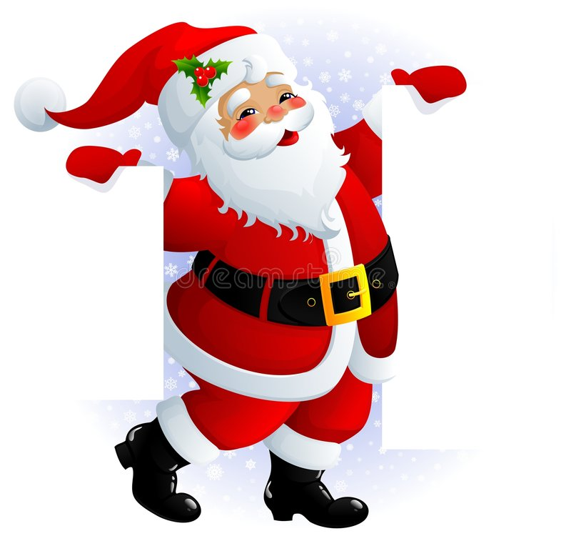 Weihnachtsmann-Zeichen vektor abbildung