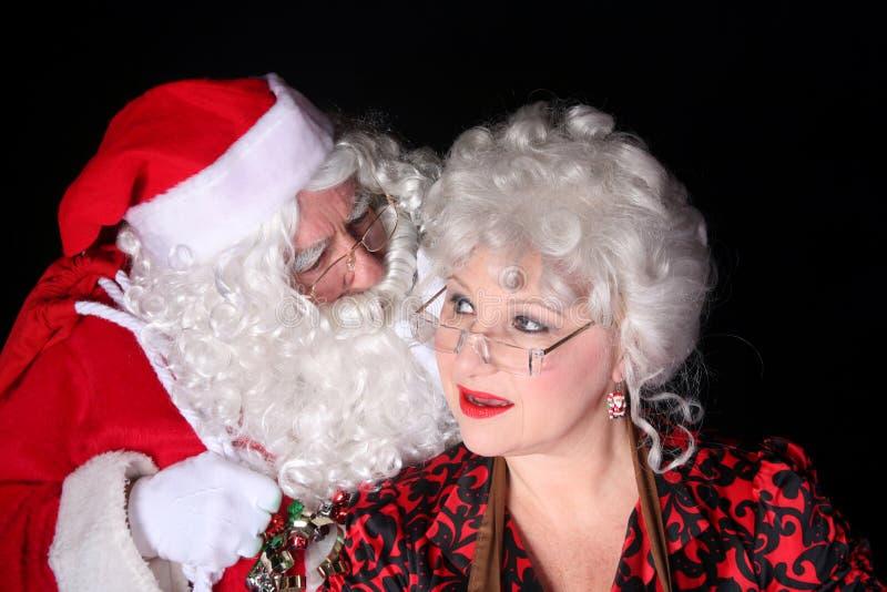 Weihnachtsmannflüstern lizenzfreies stockfoto