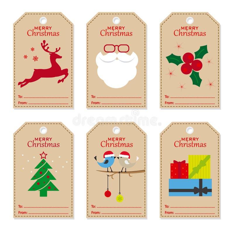 Weihnachtsmarken eingestellt lizenzfreie abbildung