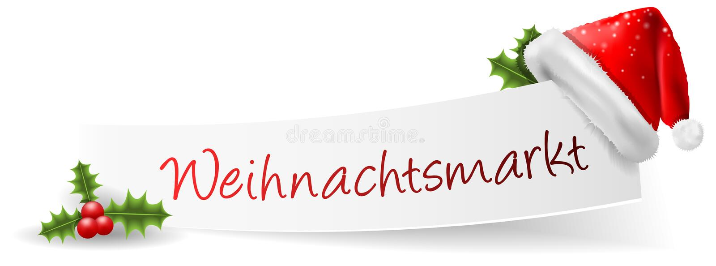 Weihnachtsmarkt圣诞节市场被隔绝的横幅传染媒介 库存例证