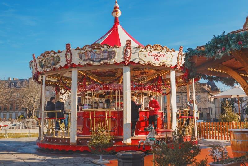 Weihnachtsmarkt in Colmar lizenzfreies stockfoto