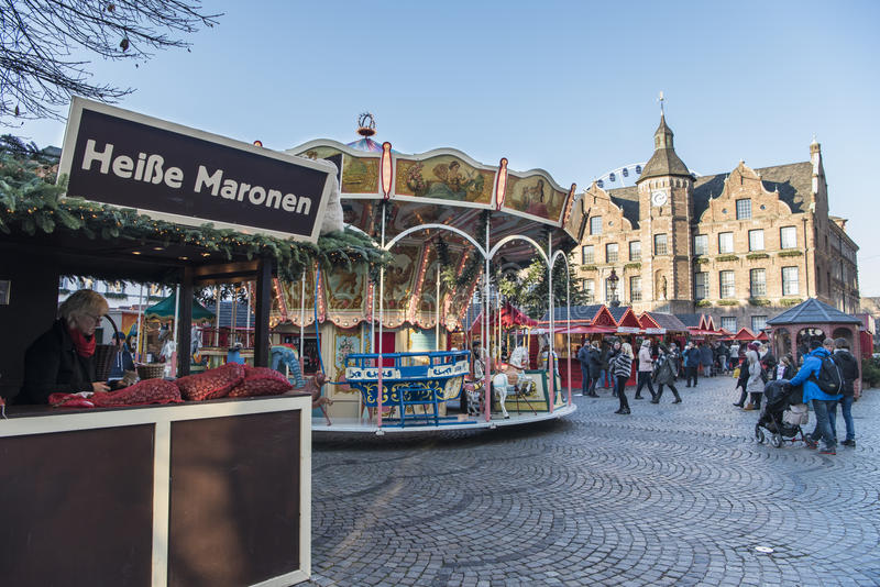 Weihnachtsmarkt Deutschland lizenzfreie stockbilder