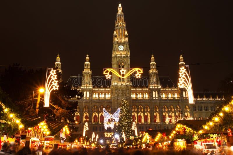 Weihnachtsmarkt, Wien lizenzfreies stockbild