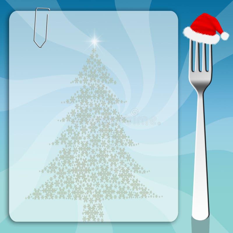 Weihnachtsmenühintergrund lizenzfreie abbildung