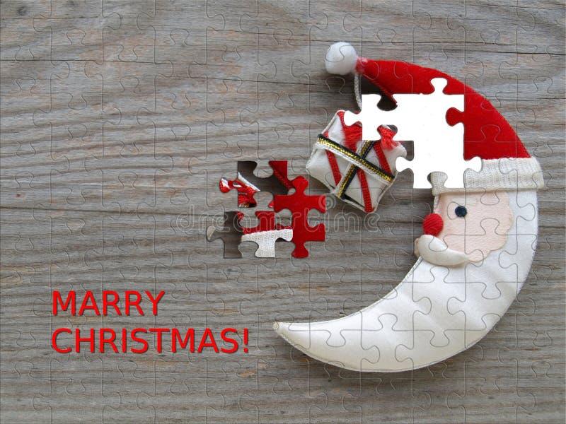 Weihnachtsmond lizenzfreie stockfotos