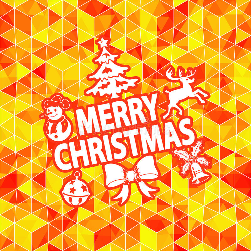 Weihnachtsmosaik-Muster stock abbildung