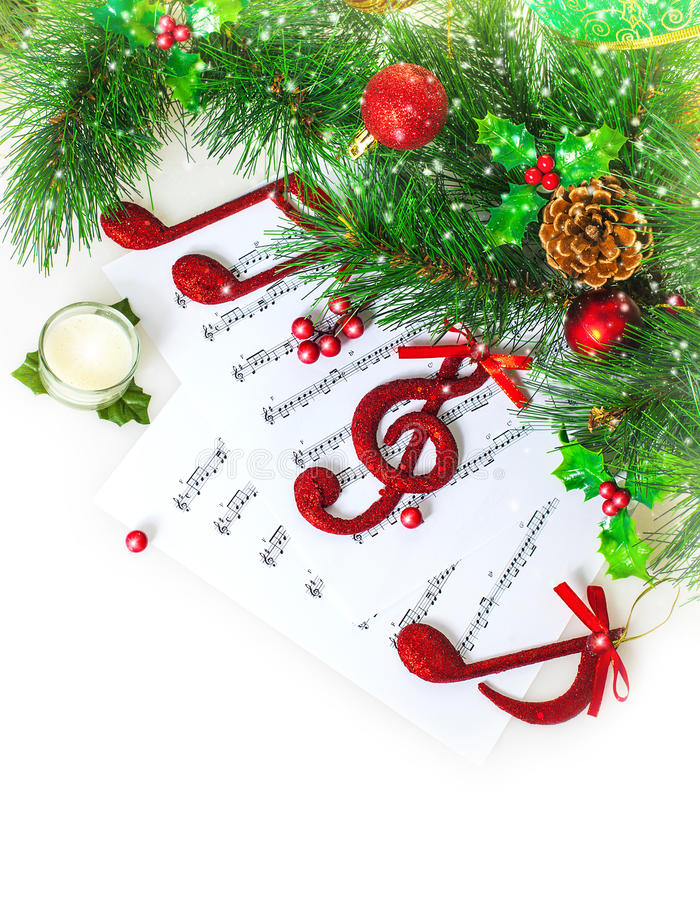 Weihnachtsmusicalgrenze stockbilder