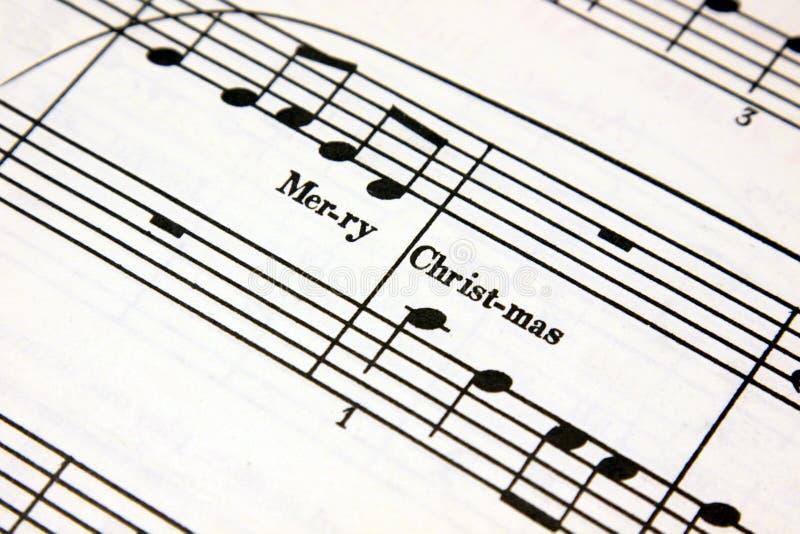 Weihnachtsmusik lizenzfreie stockfotografie