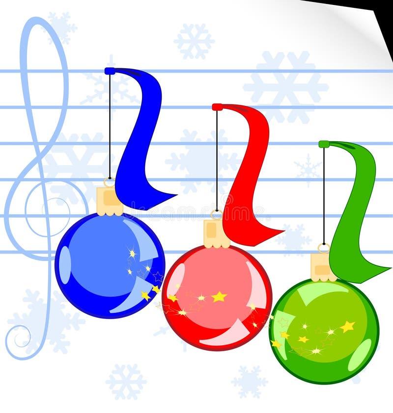 Weihnachtsmusik stock abbildung