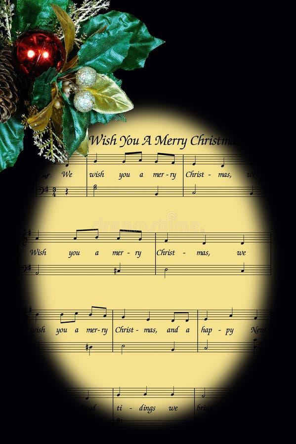 Weihnachtsmusik im Feld. stockbild