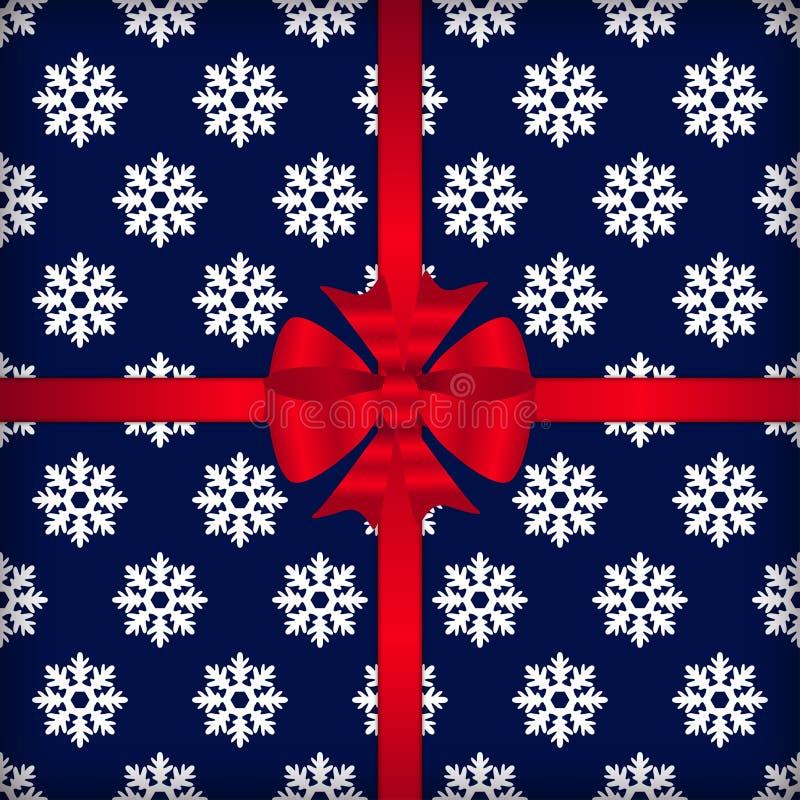 Weihnachtsmuster mit Schneeflockenvektor stock abbildung