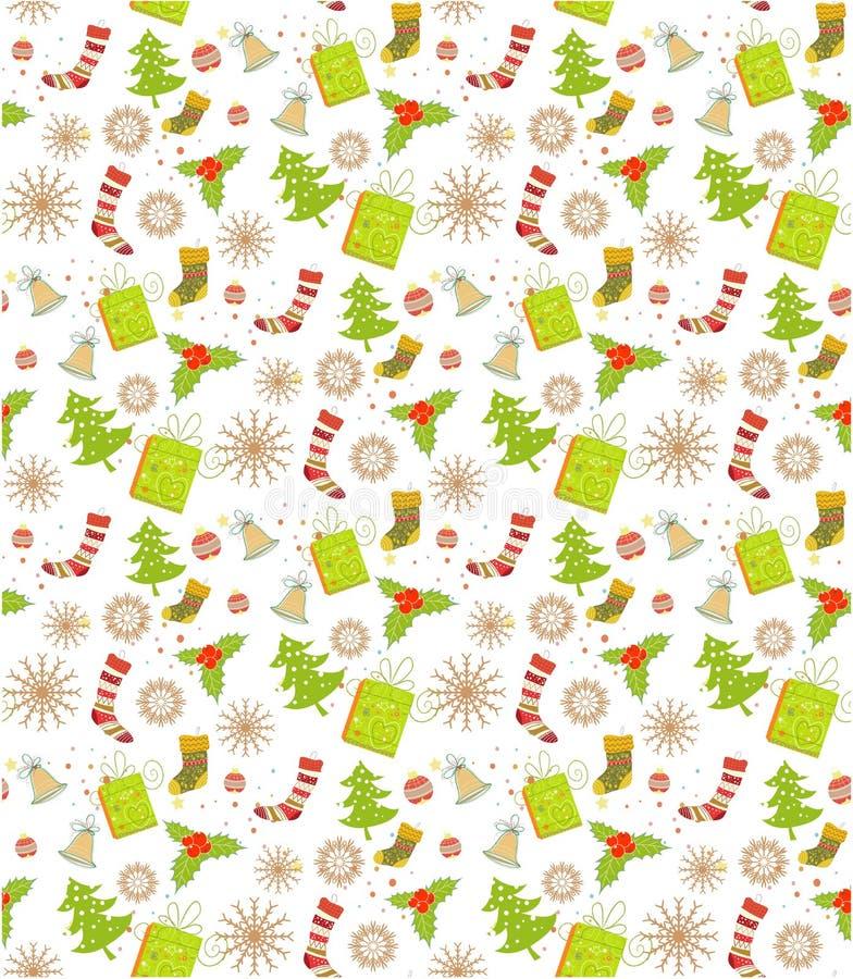 Weihnachtsmuster NAHTLOS lizenzfreie abbildung