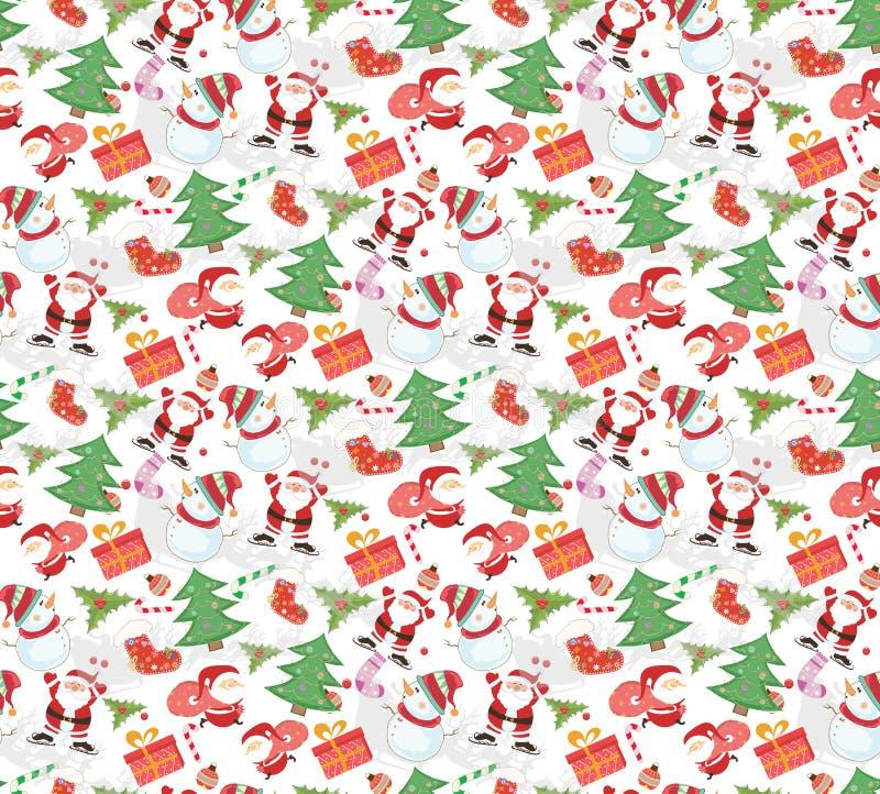 Weihnachtsmuster NAHTLOS stock abbildung