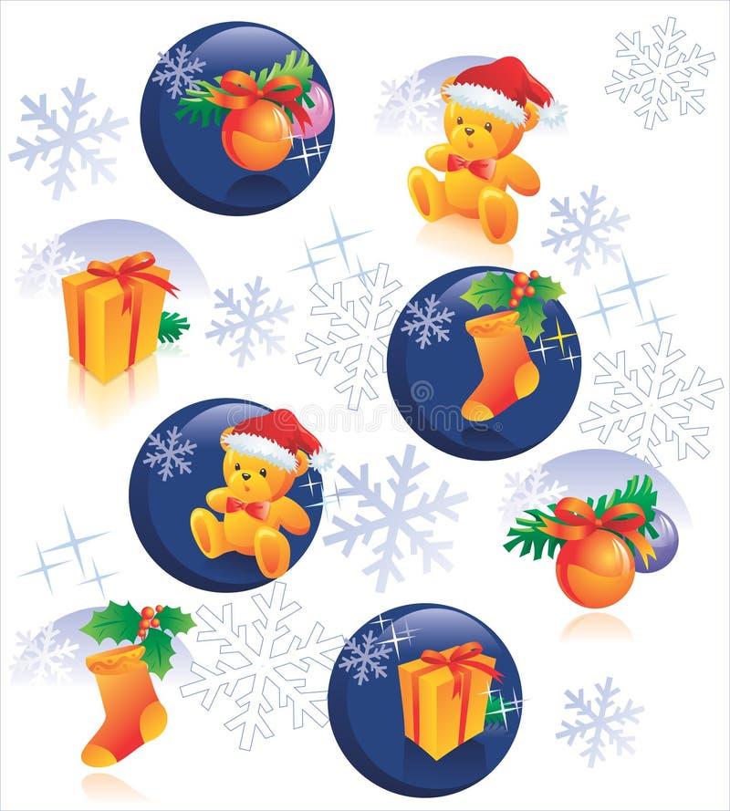Weihnachtsmusterdekoration lizenzfreie abbildung