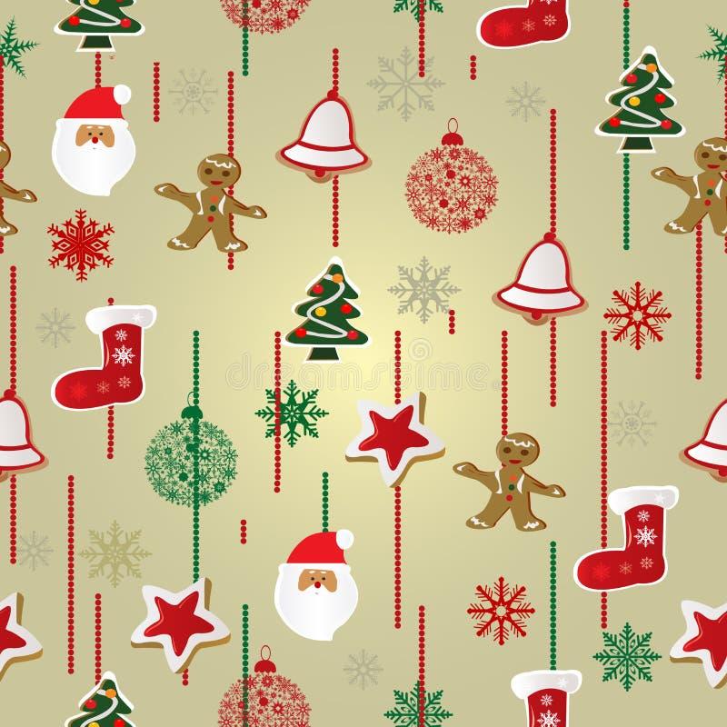 Weihnachtsmusterhintergrund stockbilder