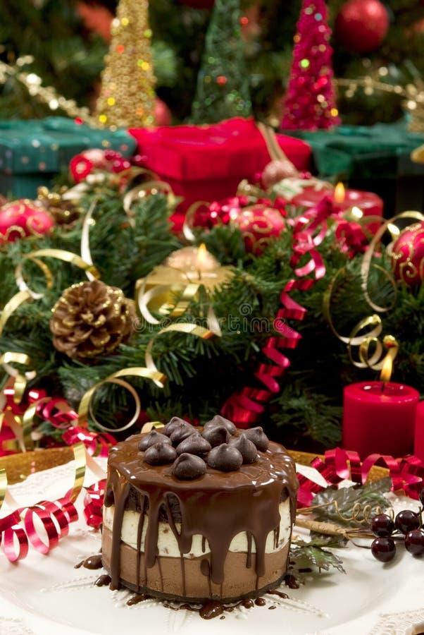 Weihnachtsnachtisch stockfoto