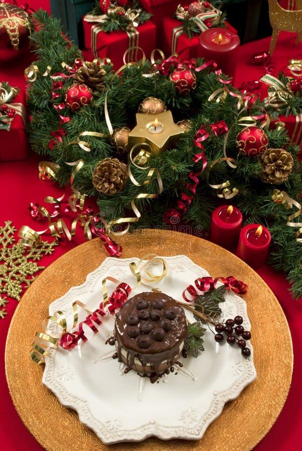Weihnachtsnachtisch stockfotos