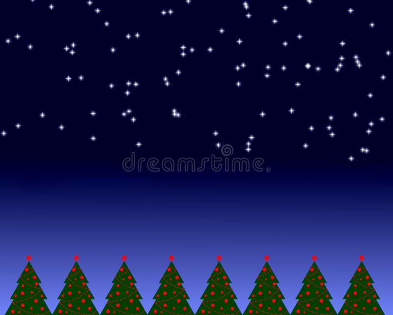 Weihnachtsnachtszene   stock abbildung